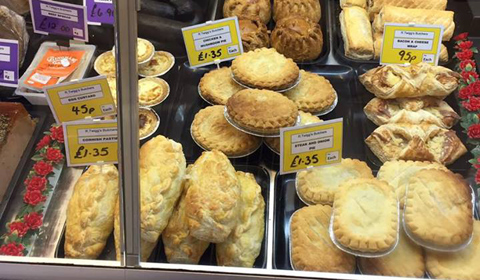 Freshly baked pies, pasties, pastries along with a wide variety of local, traditional and specialty chesses.